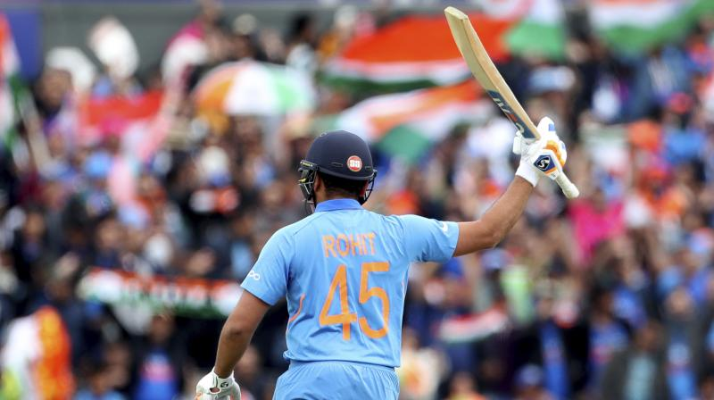 Rohit Sharma scored 122 against South Africa in India's first match of the series. Now after scoring another century, the player now stands second on the most runs scored (319) behind Aaron Finch (343)(Photo: AP)