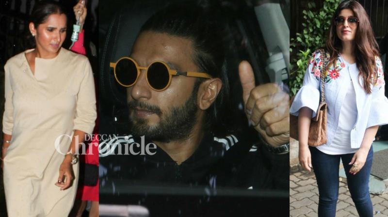 Celebrities from the entertainment and sports industries were clicked by the cameras as they stepped out in Mumbai on Wednesday. (Photo: Viral Bhayani)
