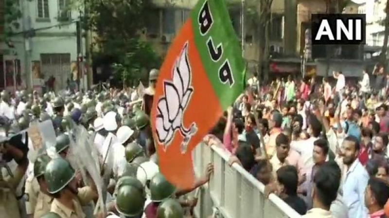 Police authorities used water cannons to disperse the BJP workers who protested against the civic body. (Photo: File)