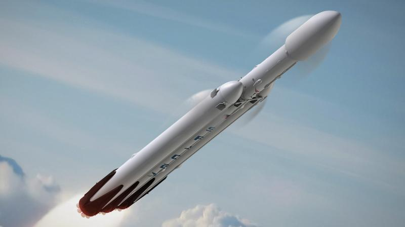 Falcon Heavy is the followup to SpaceX's Falcon 9. It's a more powerful rocket that the company hopes to use for missions to the Moon and Mars
