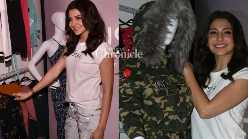 Anushka Sharma at the launch of her fashion label in Mumbai on October 3.