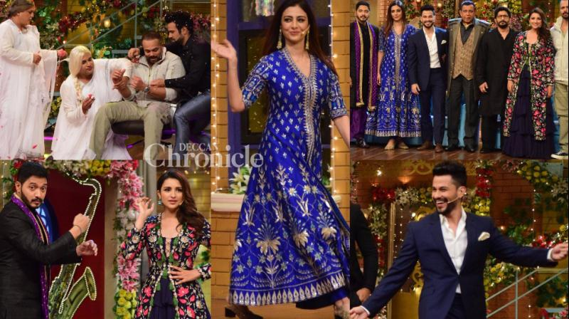The team of 'Goilmaal Again' promoted their film by shooting fun episode, like their comedy entertainer, for the reality show 'The Drama Company' in Mumbai on Monday. (Photo: Viral Bhayani)
