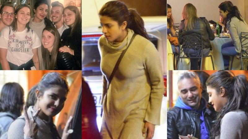 Priyanka Chopra kicked off the shoot of 'Quantico' season three in Rome, Italy and was snapped by the shutterbugs late Monday. (Photos: Twitter)