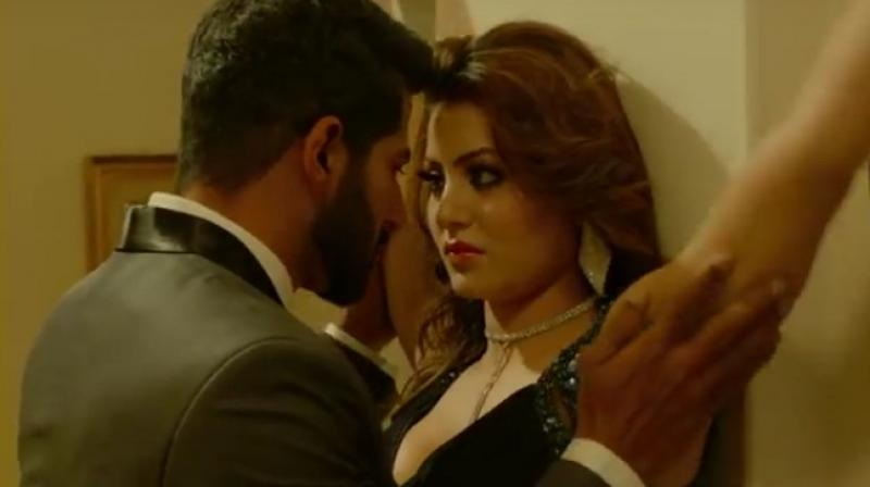 Vivan Bhatena and Urvashi Rautela in a still from 'Hate Story IV.'