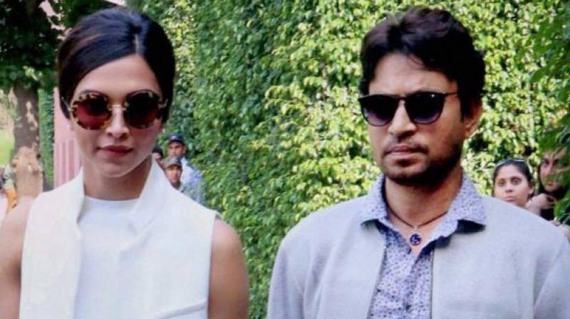Deepika Padukone and Irrfan Khan.