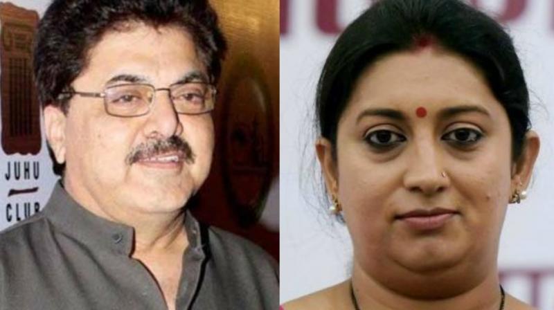 Ashoke Pandit and Smriti Irani.