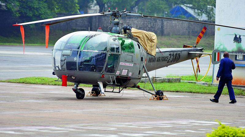 The Indian Air Force's most widely used helicopter for training, light utility and light attack roles is the HAL-made Chetak. (Photo: DC)
