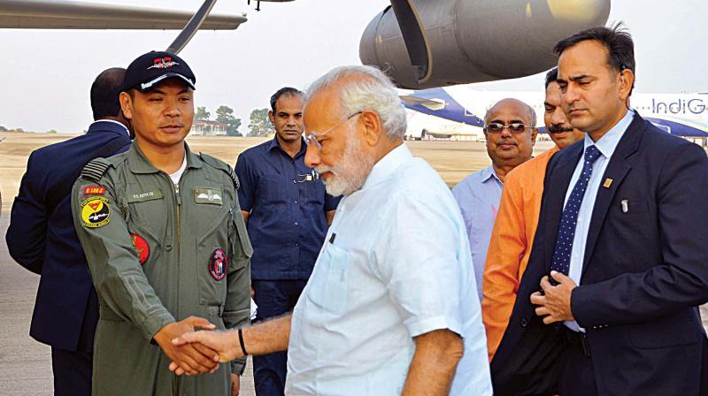 PM Modi meets, interacts with school children