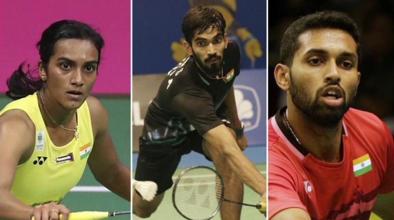 Ace Indian shuttler PV Sindhu had to toil hard even as Kidambi Srikanth and HS Prannoy secured easy victories to progress to the second round of their respective events at the Japan Open, on Tuesday. (Photo: PTI)