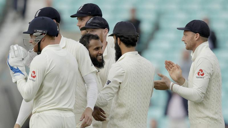 Adil rashid celebrates the wicket of India's Rishab Pant. (Photo: AP)