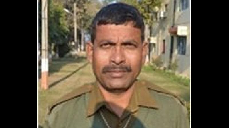 BSF head constable RP Hazra, who hails from Murshidabad in West Bengal, has served for about 27 years in the border guarding force. (Photo: ANI)
