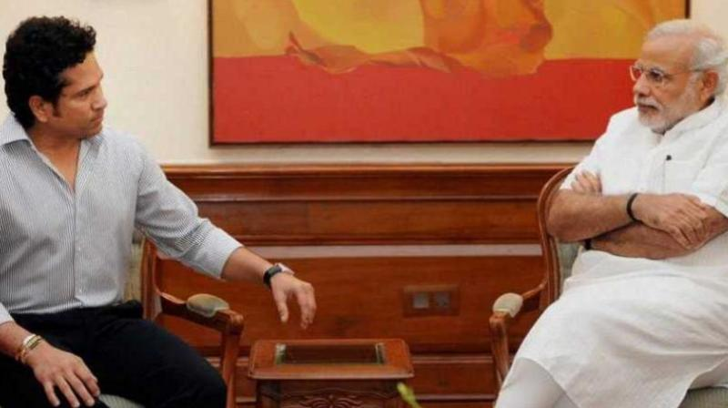 Prime Minister Narendra Modi was the most talked about Lok Sabha member, while Sachin Tendulkar the most popular Rajya Sabha member on Facebook. (Photo: PTI   File)