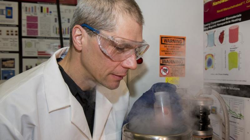 John Bischof, senior author of the study on deep-freezing donated organs, working in a lab. (Photo: AP)