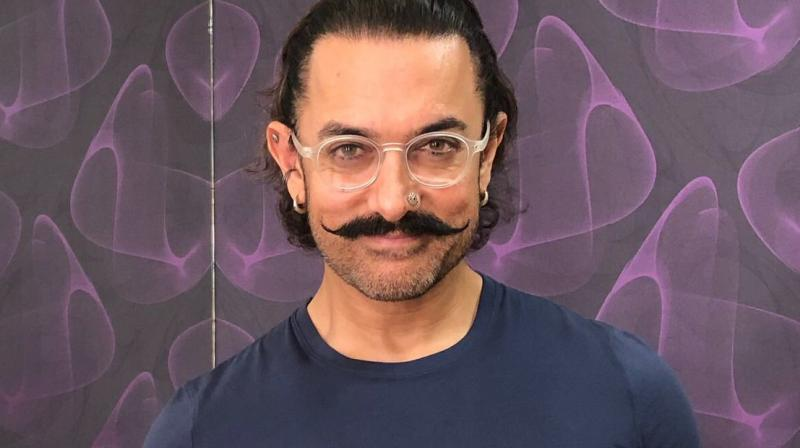 PadMan challenge: Aamir Khan poses with sanitary napkin, shares image on Twitter