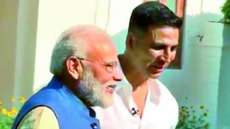 Actor Akshay Kumar engaged in a 'non-political', candid  conversation with Prime Minister Narendra Modi.