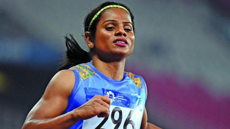 TIME magazine has named Indian athlete Dutee Chand to its first-ever TIME 100 Next, a new expansion of the TIME 100 list of the most influential people in the world. (Photo:AFP)