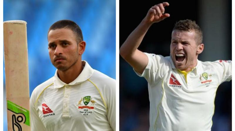 Usman Khawaja and Peter Siddle have been dropped from Australia's Test squad for the upcoming two-match series against Pakistan, as national selectors announced the 14-member team on Thursday. (Photo:AFP)