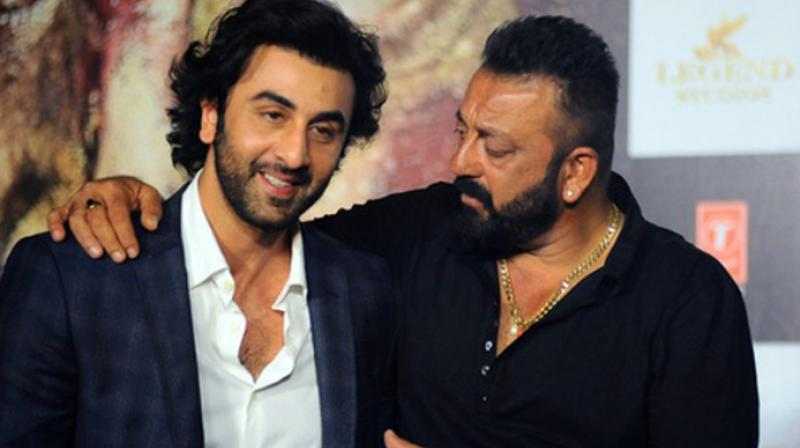 Ranbir Kapoor and Sanjay Dutt.