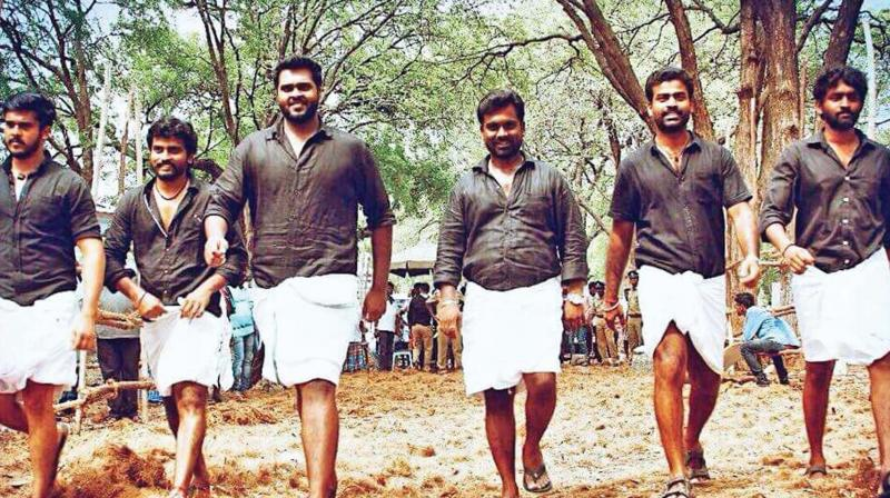 A still from the film Madura Veeran