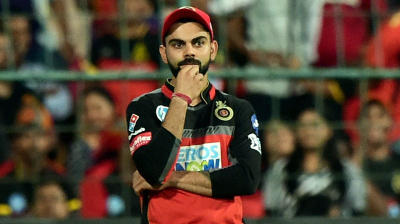 Virat Kohli has so far scored 349 in 8 games and is occupying the No.2 slot in the list of highest run-getter.(Photo: PTI)