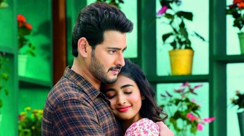 Mahesh Babu and Pooja Hegde from Maharshi
