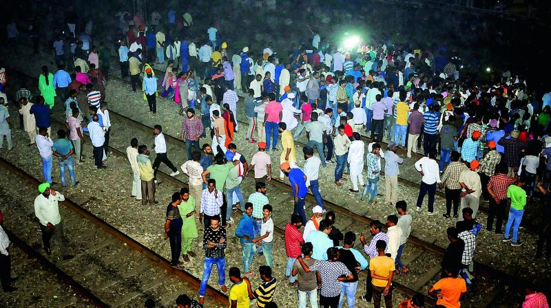At least 300 people were watching the 'Ravana dahan' at a ground adjacent to railway tracks. (Photo: File)