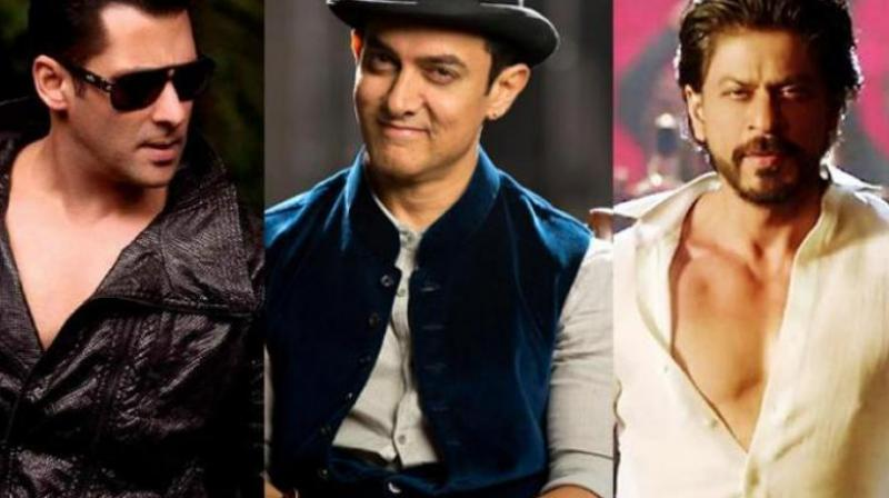 Salman, Aamir and Shah Rukh Khan.