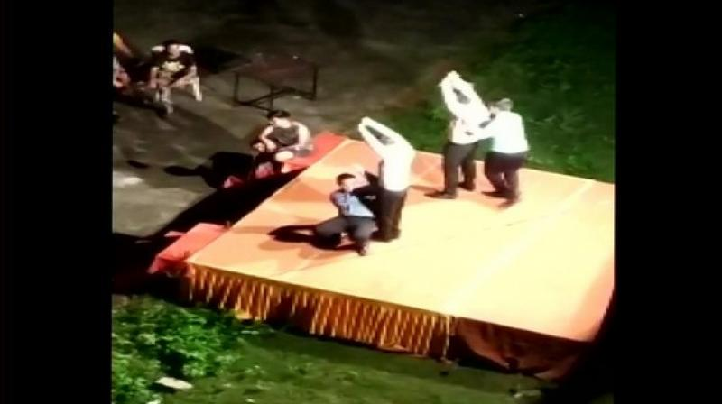 In a few recorded videos, the senior students can be seen slapping their juniors and making them do pole dance with some of them even acting as poles. The ragging horror didn't stop there as the first-year students were also made to dance in undergarments. (Photo: ANI)