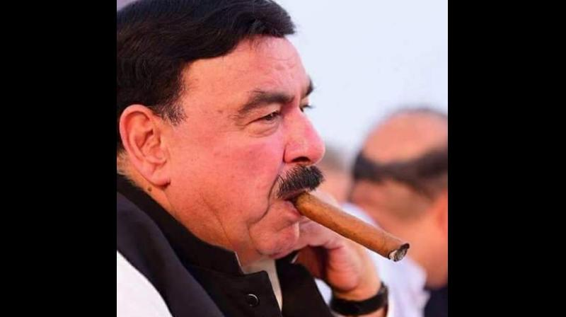 The attack took place when Rashid, who is also the chief of Awami Muslim League (AML), came out from a hotel after attending an awards ceremony in London to smoke a cigar. (Photo: Twitter   @ShkhRasheed)