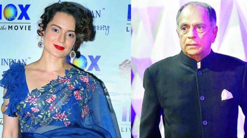 Kangana Ranaut and Pahlaj Nihalani.