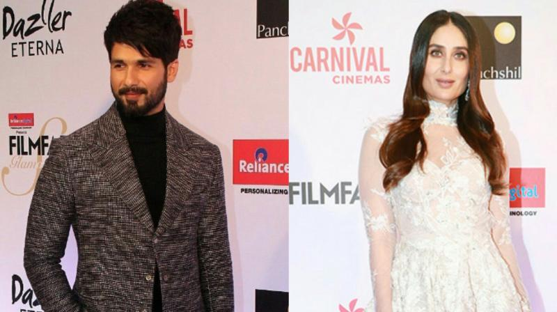 Shahid Kapoor, Kareena Kapoor Khan at a recent awards show.