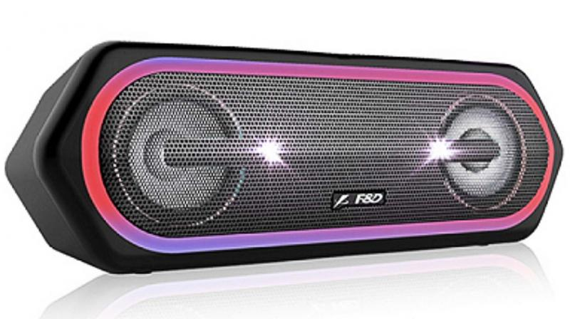 F&D's W40 is a sturdy 1.8kg rectangle some 30cm long, that you can carry to beach or pool and trust to its belting out enough volume for the outdoors with its 40-watt (twin 20 watt) speakers.