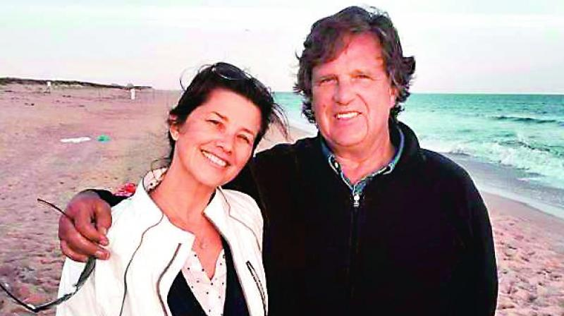 Daphne Zuniga and David Mleczko