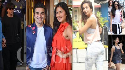 Bollywood celebrities like Shah Rukh Khan, Katrina Kaif, Malaika Arora, Janhvi Kapoor and others were spotted in the city of dreams. (Photos: Viral Bhayani)