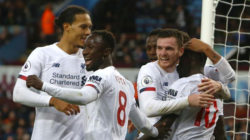 Premier League leaders Liverpool may have got some late luck against Aston Villa and must improve, but still merited their latest comeback, elated manager Juergen Klopp said on Saturday. (Photo:AFP)