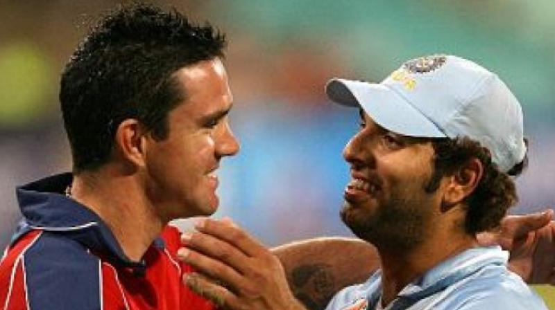 Image result for yuvraj singh kevin pietersen