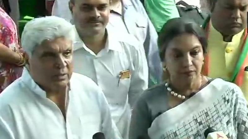 Shabana Azmi and Javed Akhtar. (Photo: ANI)