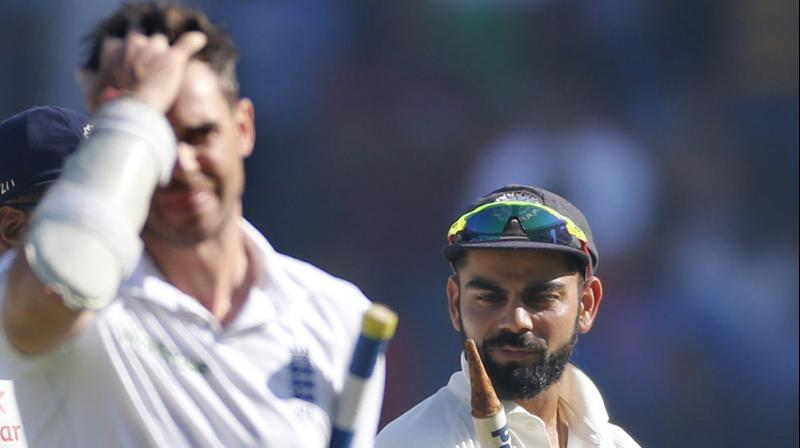 """Does Anderson mean to say that if you get runs in England you get some sort of certificate that makes you a quality batsman?, said Inzamam-ul-Haq as he criticised the England pacer following his """"technical deficiencies"""" remark on Virat Kohli. (Photo: AP)"""