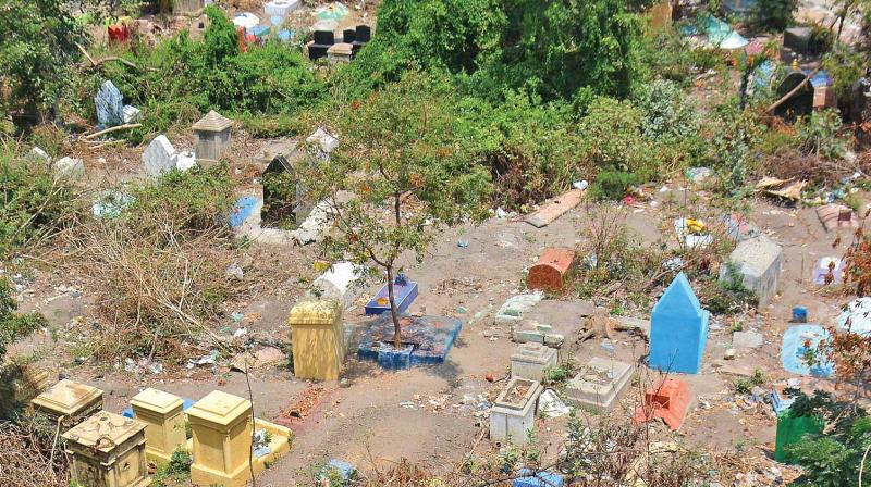 The graveyard at Kailasapuram in Mylapore from where the college girl's buried body was dug up. (Photo: DC)