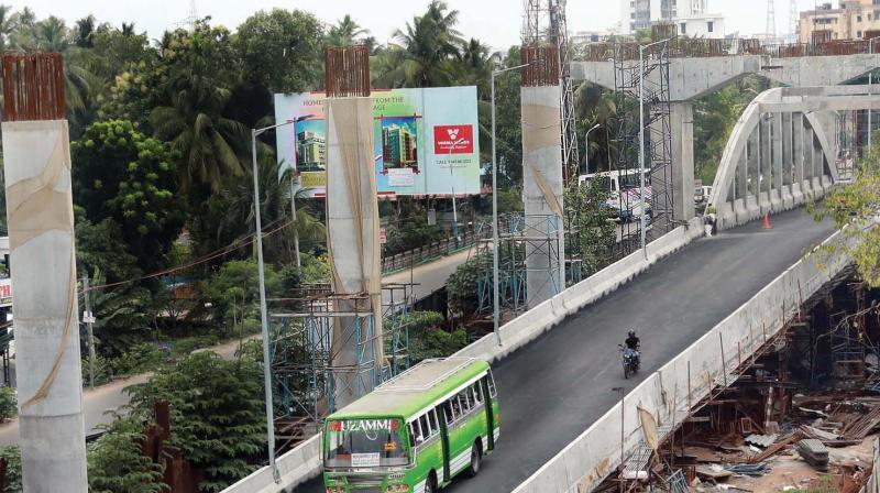 Metro works in progress at Champakkara. (DC)