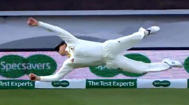 Steve Smith, who is in exceptional form, had recently taken an in-human catch to sent England's Chris Woakes back into the pavilion. (Photo: England and Wales Cricket Board/Twitter) [ECB])