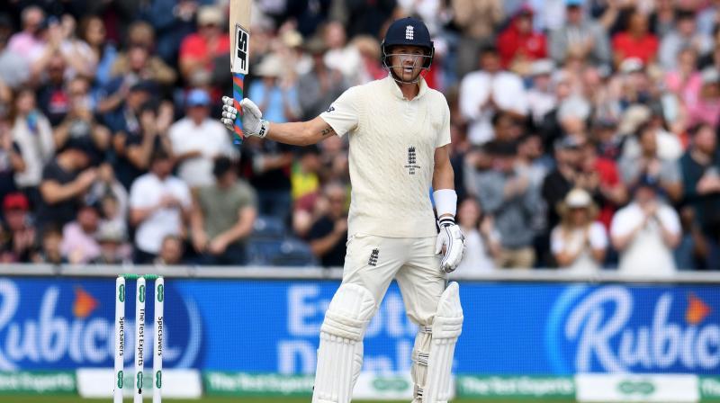 Joe Denly made a battling 94 to ensure England had a healthy lead. (Photo:AFP)