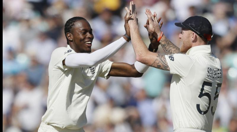 After winning the fifth and final Ashes Test against Australia by 135 runs, England skipper Joe Root praised Jofra Archer saying he is still learning how to get the best out of the pacer. (Photo:AP)
