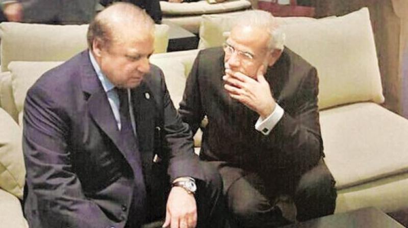 Indian Prime Minister Narendra Modi and his Pakistani counterpart Nawaz Sharif. (File photo)