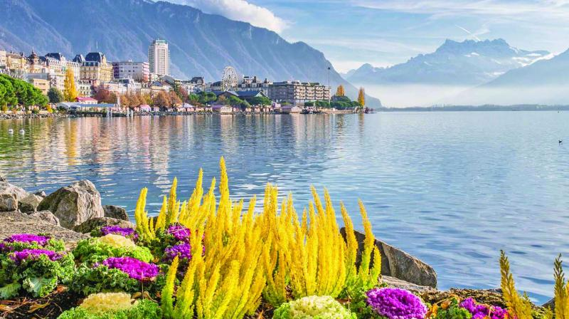The small town surrounded by vineyards and green Alpine range can be easily reached from Geneva via a short train ride.