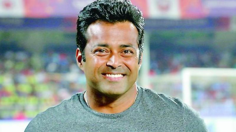 The 46-year-old Leander Paes went on to better his own record by achieving his 44th Davis Cup doubles win as India routed Pakistan 4-0 last week. (Photo: File)