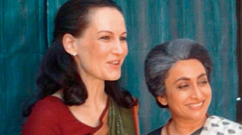 Suzanne shared a picture dressed as Sonia Gandhi.