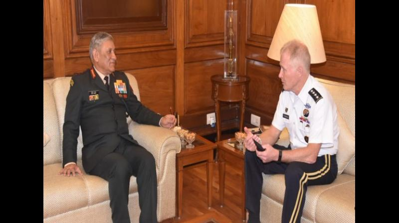 The meeting of two top Generals had come days after India launched a 'pre-emptive' and  'non-military' strike against JeM in Pakistan's Balakot. (Photo: ANI)