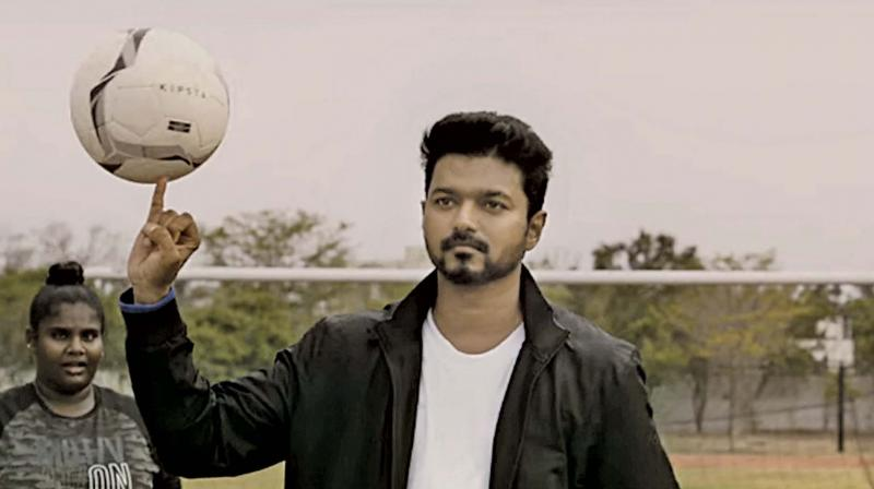 A screengrab from the Bigil trailer
