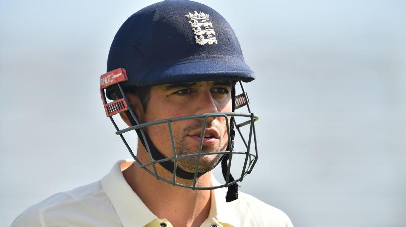 """""""Although it is a sad day, I can do so with a big smile on my face knowing I have given everything and there is nothing left in the tank,"""" said the former England skipper Alastair Cook. (Photo: AFP)"""